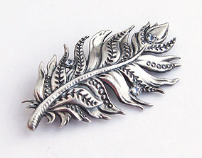 Feather brooch printable jewelry model