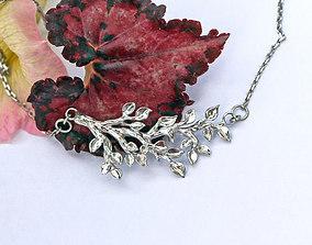 Tree branch pendant printable jewelry model