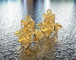 3d print model bro woven tetrahedron 2 earring