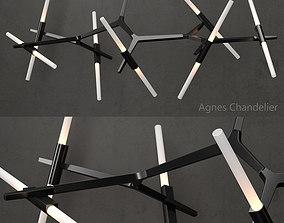 Agnes Chandelier 14 lights black 3D model
