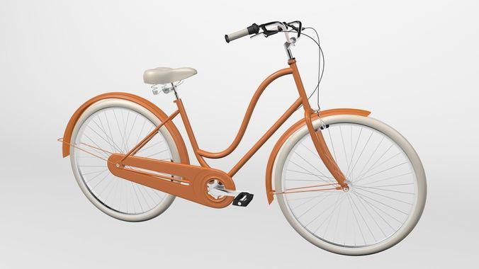 electra bike amsterdam 3d model c4d 1