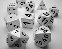 role playing dice - complete set 3d printable model