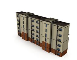 3D asset Asian Architecture Residential building 02