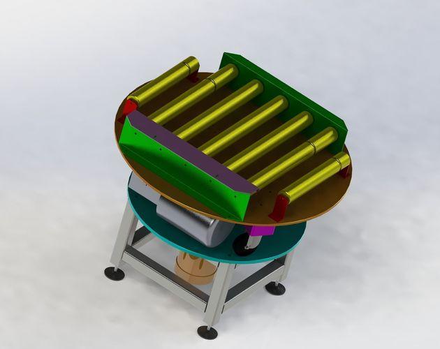 rotary conveyor 3d model max obj mtl 3ds fbx stl sldprt sldasm slddrw 1