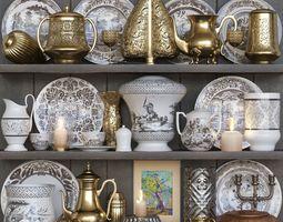 3D model Classic set of kitchen ware