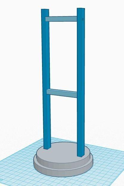 Vertical headphone stand 3D printable model | CGTrader