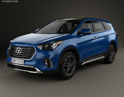 Hyundai Santa Fe DM 2017 3D model