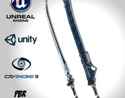 Sci-fi Frozen Sword - Remake 3D model