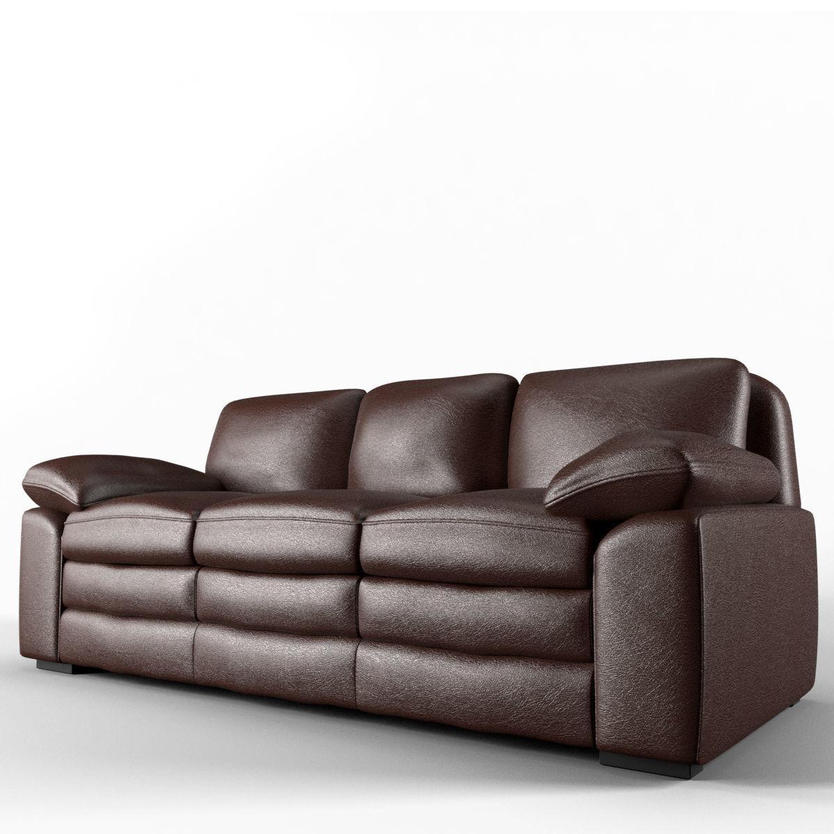 Sofa No 1   Armen Living Genuine 3d Model Max Obj Mtl Fbx 1 ...