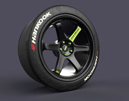 Volk TE37 Racing Wheels and Tires 3D print model