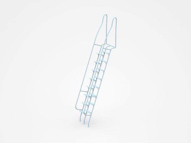 Movable Staircase Ladder 3D Model
