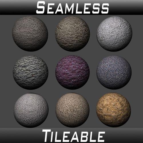 stucco textures pack 5 3d model  1