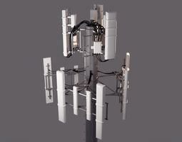 3D model Mid-poly Cell Tower