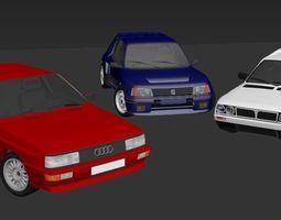 B Group Rally Car Collection vol1 3D asset