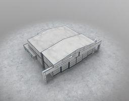 EGCC Hangar 4 3D asset