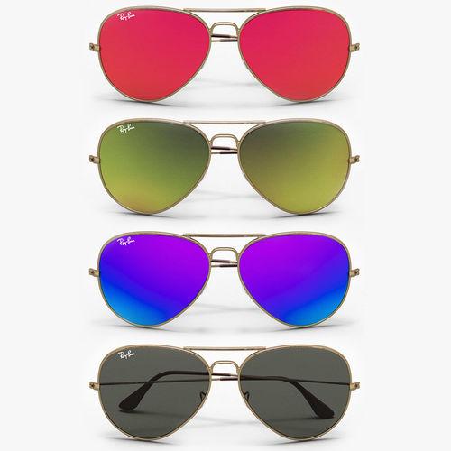 c2224758ee Colored Aviator Sunglasses 3D model MAX OBJ MTL FBX