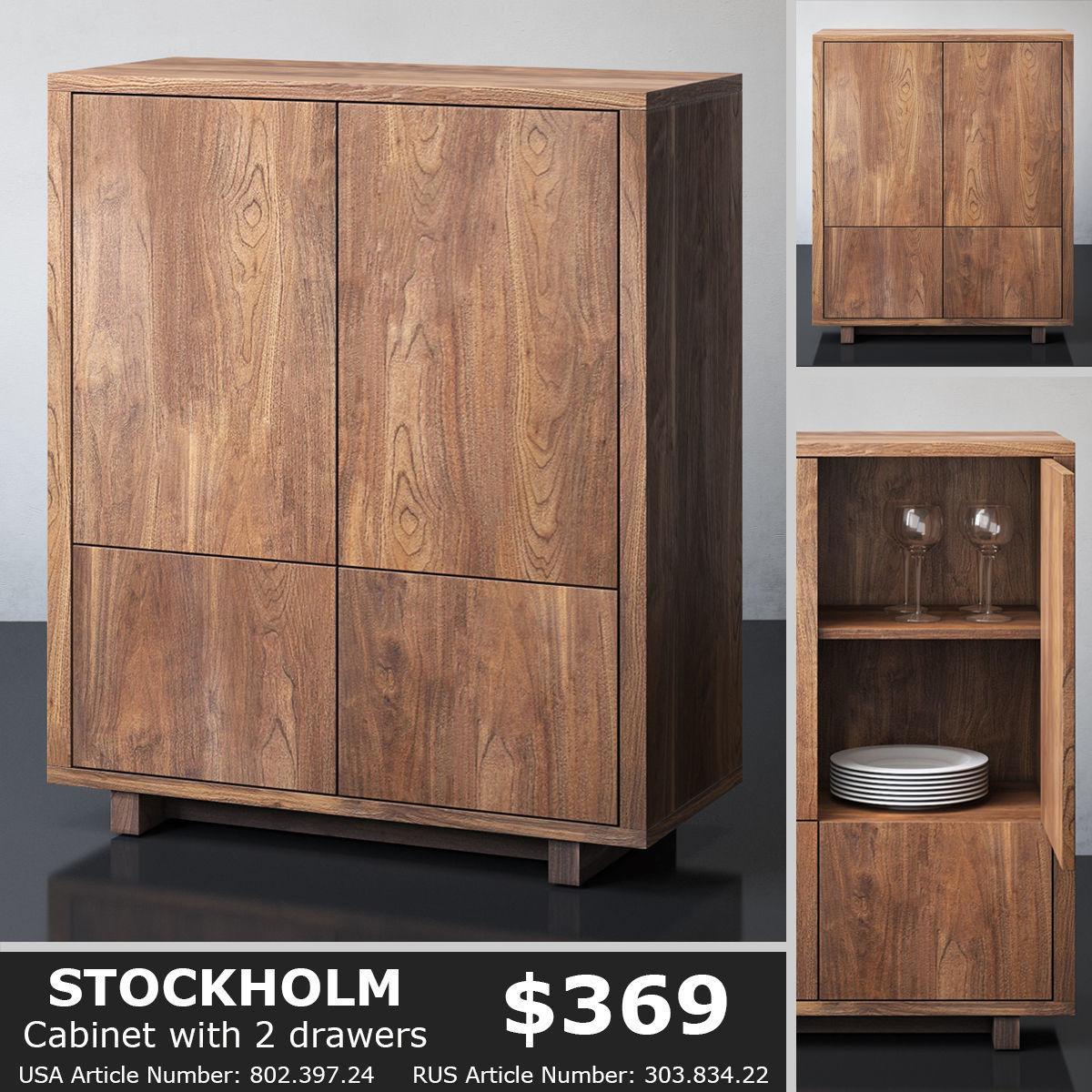 Bon IKEA STOCKHOLM Cabinet 3D Model