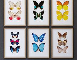 JUNIQE Butterfly picture 3D model rectangular