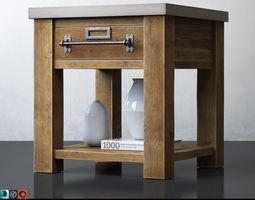 3D model RH ZINC-TOP MERCANTILE SIDE TABLE 22sq