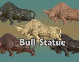 3D asset Bull Statue