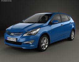 Hyundai Verna Accent 5-door hatchback 3D model