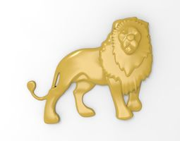 Printable Lion Relief