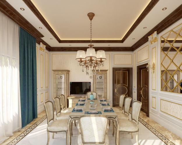 dining room 3d model max 1
