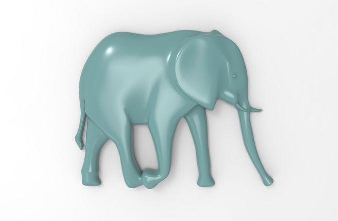 printable elephant relief  3d model obj mtl stl 3dm stp 1