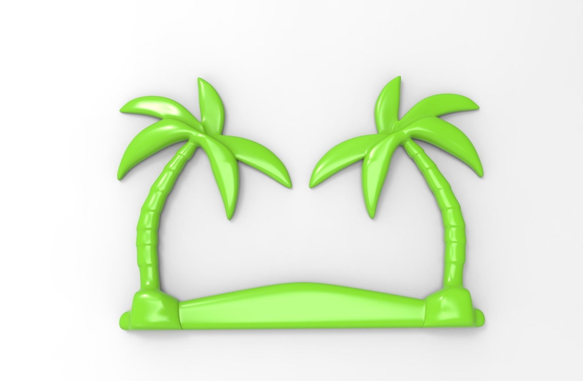 photograph relating to Palm Tree Printable known as Printable Palm Tree Reduction 3D Print Fashion