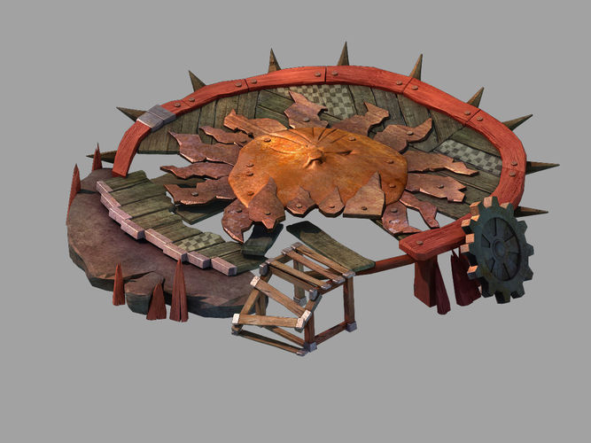Black light hole - small wooden stand 02 | 3D model