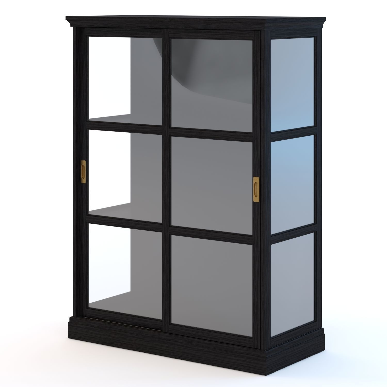 3d Ikea Malsjo Glassdoor Cabinet Cgtrader