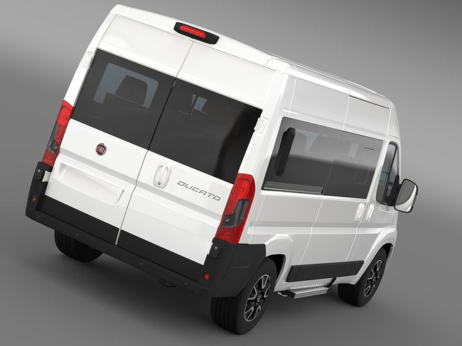 3d model fiat ducato panorama 2017 cgtrader. Black Bedroom Furniture Sets. Home Design Ideas
