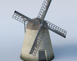 Basic run down grungy Windmill 3D model