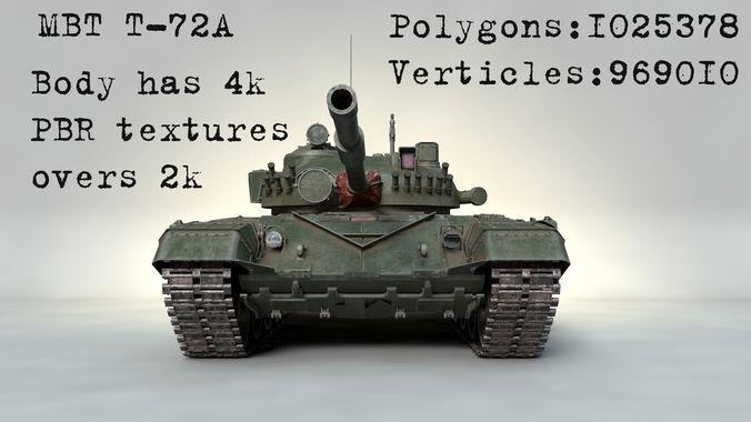 04ea15c2098d 3D model PBR MBT T-72 A