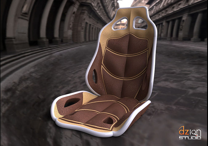 chair for interior car concept 3d model cgtrader. Black Bedroom Furniture Sets. Home Design Ideas