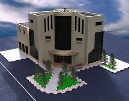 Poultry complex administrative building 3D model