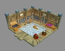 tribe 3D model Gang Indoor - Warehouse