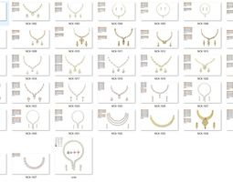 Necklace in bulk-0001 3D print model