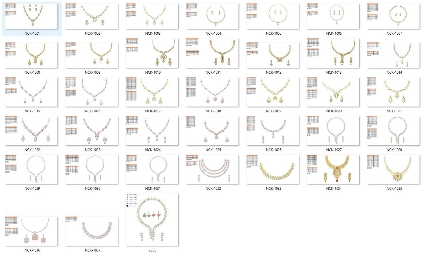 Collection- Bulk Necklace-0001-jcd-38 Files