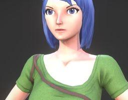 3D model Anime Girl