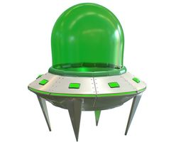 Cartoon UFO 3D asset