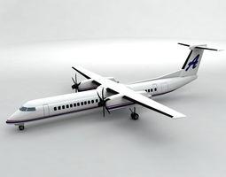 3D model Bombardier Q-400 Airliner