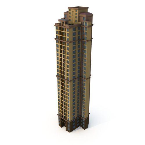 asian architecture residential building 04 lod 3d model 3d model low-poly max obj mtl 3ds fbx ma mb 1