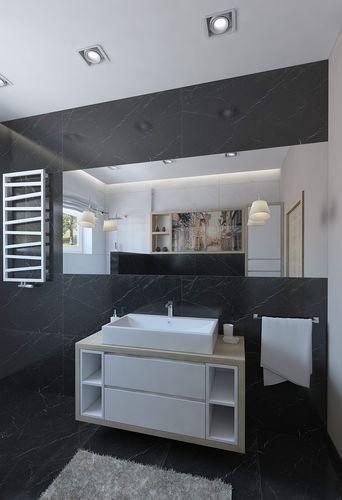 48D Model Outstanding Shower Room With Black Marble Tiles Impressive Black Marble Bathroom Model