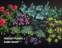 Fantasy plants 1 3D model