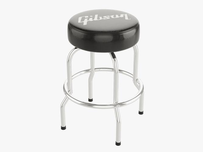 gibson bar stool 24 3d model max obj mtl fbx 1
