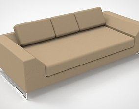 Design sofa with pipe legs living 3D model