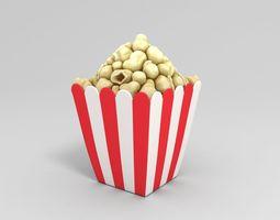 3D model emoji Popcorn