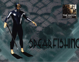 Spearfishing 3D asset game-ready