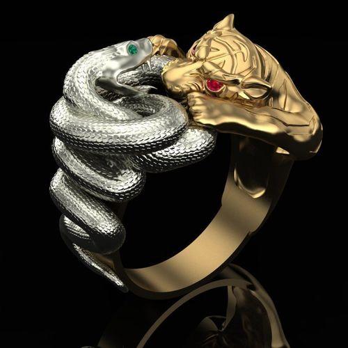 ring tiger and snake 3d model obj mtl stl 3dm 1
